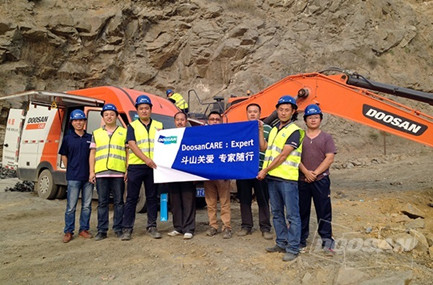 Doosan Infacore Excavators No. 1 in Customer Satisfaction in China