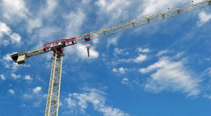Terex launches 80m jib, 20-tonne flat top tower crane